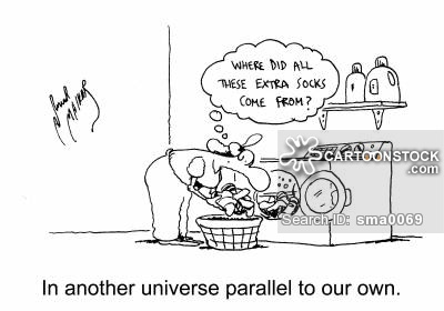 'In another universe parallel to our own.'